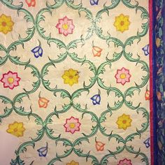 #India #ceiling above my #bed #flowers