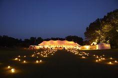 Wedding tent at night. Event Design: Alison Events Planning & Design