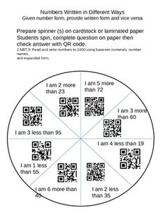 Qr codes 327 people found 77 images on pinterest created by allison common core math 2nd grade number words review with qr codes fandeluxe Image collections