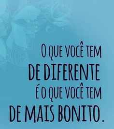 Ser diferente.