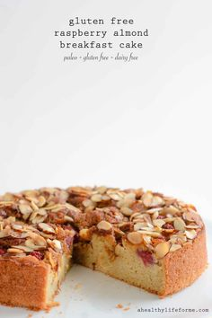 Gluten Free Raspberry Almond Breakfast Cake, Desserts, Gluten Free Raspberry Almond Cake is Paleo Dairy Free Delicious Recipe Gluten Free Treats, Gluten Free Cakes, Gluten Free Baking, Gluten Free Desserts, Healthy Desserts, Gluten Free Almond Cake, Paleo Baking, Healthy Recipes, Raspberry And Almond Cake