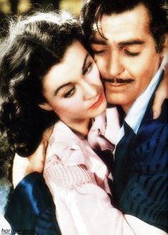 Vivien Leigh and Clark Gable