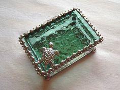 Stained Glass Jewelry BoxSea TurtleSea by CreativeSpiritGlass