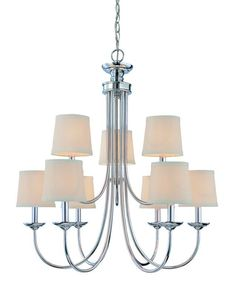 jeremiah crescent 12 light chandelier in polished nickel lighting
