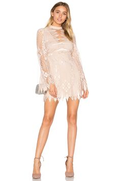 Free People Deco Lace Mini Dress in Ivory Combo | REVOLVE