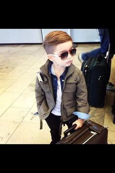 Stylish kid, thats quite a hair cut