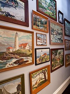 A fond childhood memory came to life when Tim purchased a collection of paint-by-number artwork on eBay.