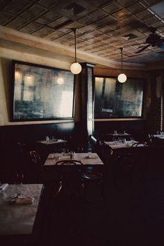A quiet restaurant/bar where you can meet up with friends after work.