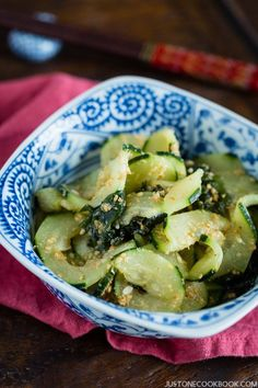 Spiralized Cucumber Salad   Easy Japanese Recipes at JustOneCookbook.com
