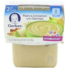 Gerber 2nd Foods, Blended Fruits with Oatmeal, 2-Count, 3.5-Ounce... (110 SEK) ❤ liked on Polyvore featuring baby food