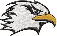 Instant Download Embroidery Design Eagle Head by DigiDoctor, $4.10