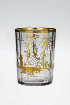 Bohemian, or à la façon de, cut and gilt glass, 18th c