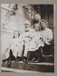 Else Haeckel, Ernst Haeckel, Charlotte Haeckel and Lisbeth Haeckel