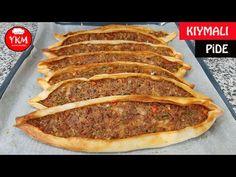Easy Pita Recipe, Pide Recipe, Pizza, Turkish Recipes, Dough Recipe, Meatloaf, Hot Dog Buns, Food Art, Pork
