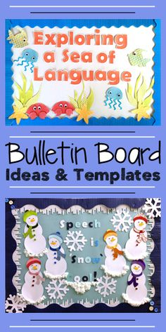 Year Round Speech Therapy Bulletin Board Ideas & Templates by teachingtalking.com