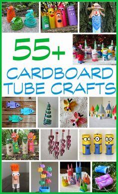55+ Cardboard Tube Crafts for Kids