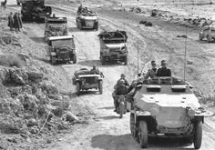 American vehicles in this German convoy.