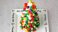 Instructions for Making a Gumdrop Christmas Tree.  Great Holiday Activity to do Alone or with Kids !