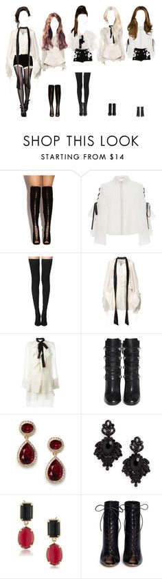 """Promise performing Sky at MAMA"" by promise-official ❤ liked on Polyvore featuring Laced In Love, Andrew Gn, Jonathan Simkhai, Tamara Mellon, Dolce&Gabbana, Balmain, Romance Was Born, Isabel Marant, BaubleBar and Tasha"
