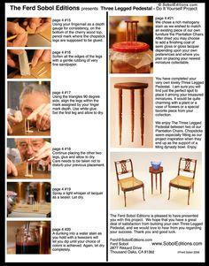 The Sobol Editions: The Three Legged Pedestal DIY Project