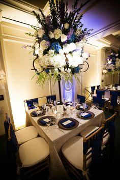 ROYAL BLUE BEAUTY WEDDING Decor by Darryl & Co.