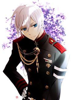 Owari no Seraph - Hiiragi Shinya by 月森うさこ on pixiv_Tsukimori Usako Mangaka Owari no Seraph Series Hiiragi Shinya Character Flower Background Military Uniform