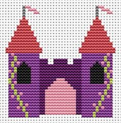 Castle hama perler beads pattern