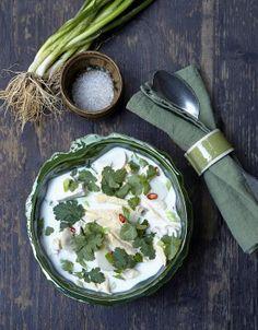 Soupe Tom Kha Kaï- lait de coco et poulet