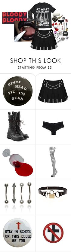 """""""stab me with a broken broom"""" by kmfdms ❤ liked on Polyvore featuring Rick Owens, Victoria's Secret, Topshop, ...Lost, Rodarte and Ultimate"""