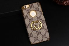 Luxe Gucci iPhone8/7S/7/6S/6/Plus Case Brown