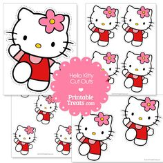 Free Hello Kitty Printable Cut Out from PrintableTreats.com