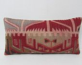 12x24 artwork kilim pillow green throw pillow red decorative pillow home decor accessories throw pillowcase retro decor pillow case 24301