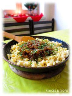 Kässpätzle mit Röstzwiebeln Risotto, Ethnic Recipes, Food, Food Food, Rezepte, Meals