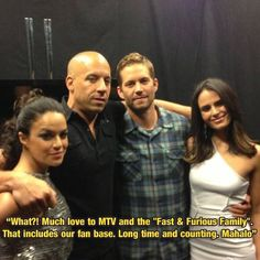Fast Family Forever!! Smart Men, Paul Walker, Fast And Furious, Never Forget, Man Alive, Mtv, Sexy, Movie Posters, Film Poster
