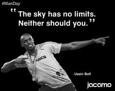 It's #ManDay Here's some monday motivation from the legend that is Usain Bolt