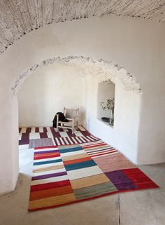 One-of-a-kind rugs for every space and emotion. View the nanimarquina rug collection at Rouse Home. Hand Spinning, Soft Furnishings, Kilim Rugs, Lana, Interior Design, Modern, Furniture, Morro Bay, Kilims