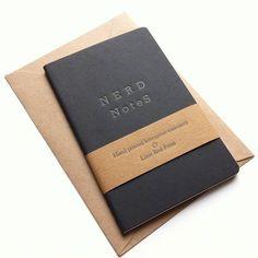 Nerd Notes Letterpress Moleskine Notebook