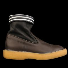 Why do I want these? UNIONMADE - Kapital - Wrinkled Leather Popeye Boot in Black