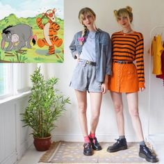 Character Inspired Outfits, Disney Inspired Outfits, Disney Outfits, Disney Style, Aesthetic Fashion, Aesthetic Clothes, Duo Costumes, Retro Fashion, Girl Fashion