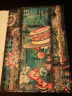 Mixed media & Zentangle art journal page. Miranda Bosch - Thurlings