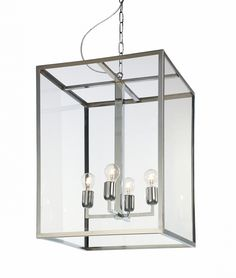 lampa wisząca L 4 x 60W E27 (chrom)
