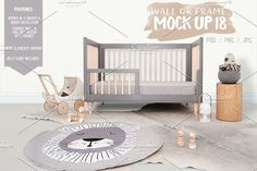 Kids Room Wall/Frame Mock Up 18 by Whimsicality on @creativemarket
