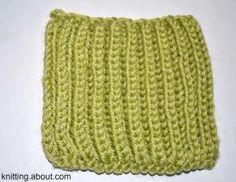 basic brioche stitch knitting pattern - Sarah E. White, licensed to About.com, Inc.