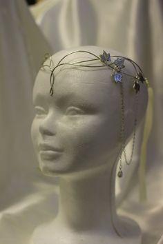 Sindar elven crown tiara bridal circlet in silver by CostureroReal