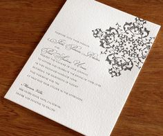 Pattern--this is an invitation, but you could use a similar idea for an order of ceremony.
