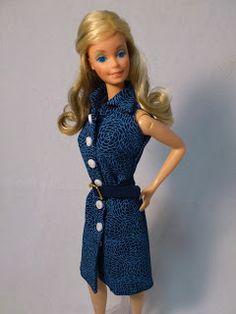Free Pattern: Barbie a Porter: Molde para Barbie - Chemisier (Shirt Dress)