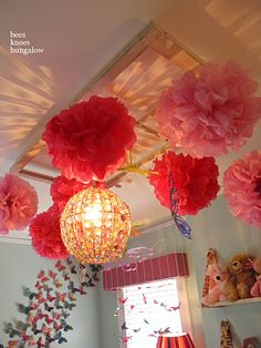 How cute! Already have an old window and chandelier for Chloe's room, this would be great for the re-do!