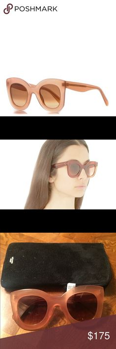 Celine Pink Marta Sunglasses CÉLINE   New never worn Marta Sunglasses in Antique Rose with brown lenses.   Style: CL 41093/S  Color: N8O Antique Rose / PP Brown Degrade   Cat eye silhouette 100% UV filter Acetate frame Comes with case and cleaning cloth  Made in Italy Celine Accessories Sunglasses