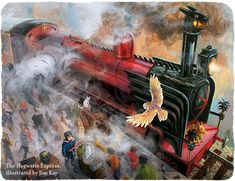 The Hogwarts Express background illustrated by Jim Kay