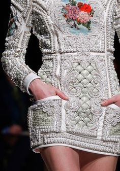 Balmain Paris..... Embellishment to die for! Everytime I see this collection my heart pumps.... one of the many reasons I'm a designer!